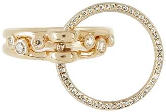 Charlotte Chesnais FINE JEWELLERY Three Lovers diamonds & yellow-gold ring