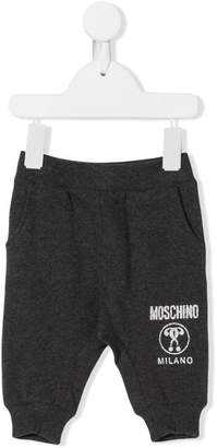 Moschino Kids logo printed track pants