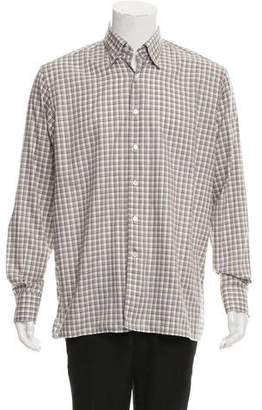 Canali Plaid Button-Up Shirt