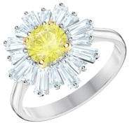 Swarovski Sunshine Canary Yellow Crystal Statement Ring
