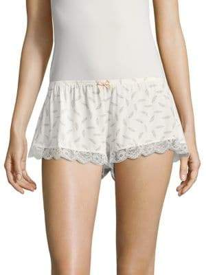 Eberjey Plume Of Love Printed Shorts