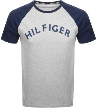 Tommy Hilfiger Short Sleeved Logo T Shirt Grey