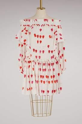 Alexander McQueen Ruffled silk dress