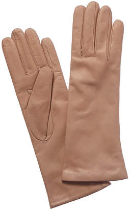 Portolano Long Misty Rose Cashmere-Lined Leather Gloves