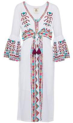Figue Embroidered Cotton-gauze Midi Dress