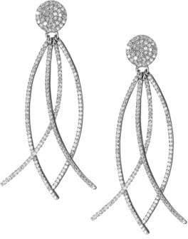 Nina Gilin Diamond Arc Drop Earrings