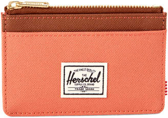 Herschel Apricot & Brandy Oscar Zip Credit Card Wallet