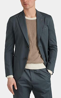 Eleventy Men's Cotton Twill Two-Button Sportcoat - Green