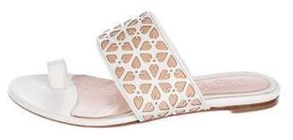 Alexander McQueen Leather Thong Sandals