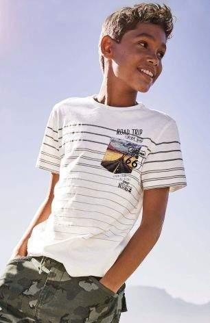 Boys Ecru Graphic Pocket T-Shirt (3-16yrs) - Cream