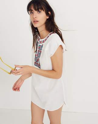 Madewell Embroidered Belize Cover-Up Tunic Dress