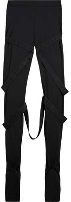 Burberry Strap Detail Jersey Leggings