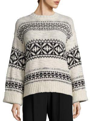 Polo Ralph Lauren Geometric Knit Sweater $298 thestylecure.com