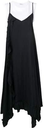 P.A.R.O.S.H. ruffle detail maxi dress