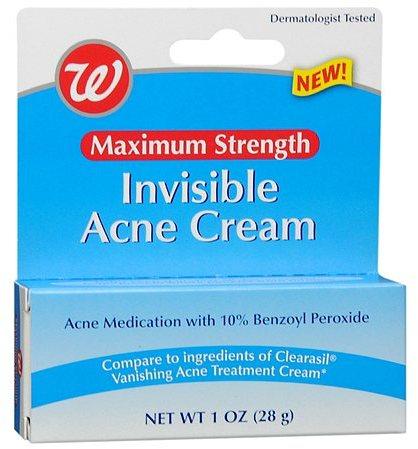 Walgreens Invisible Acne Cream Maximum Strength