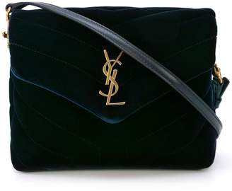 Saint Laurent Dark Blue Velvet Toy Lou Lou