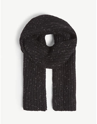 Zadig & Voltaire Lisa Coa cotton-blend knitted scarf