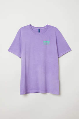 H&M T-shirt with Printed Design - Purple