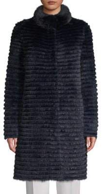 Blue Duck Reversible Mink & Rabbit Fur Coat