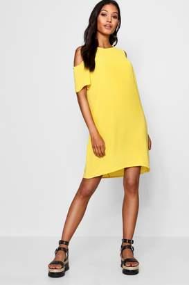 46bdbf8b6f83 boohoo Yellow Cold Shoulder Day Dresses - ShopStyle