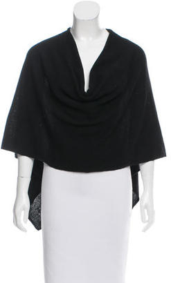 Minnie Rose Cashmere High-Low Poncho $130 thestylecure.com
