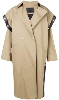 Givenchy square-shoulder oversized trench coat