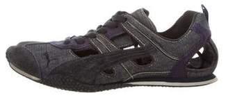Neil Barrett Puma x Round-Toe Low-Top Sneakers