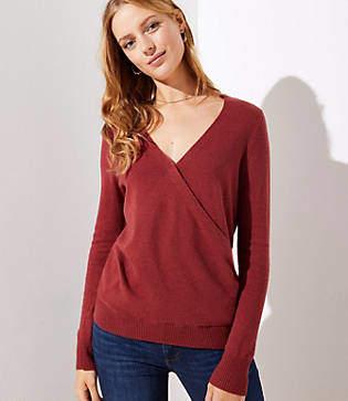 LOFT Wrap Sweater