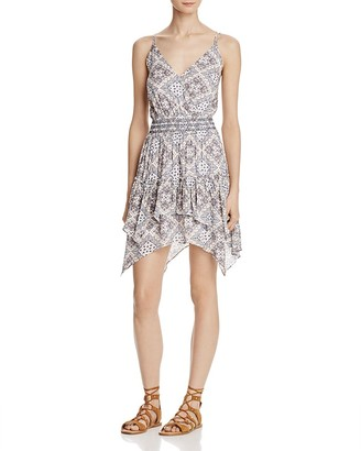 AQUA Surplus Printed Handkerchief Hem Dress - 100% Exclusive $98 thestylecure.com