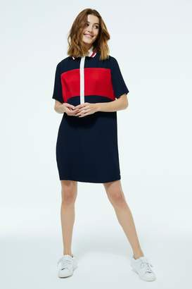 Tommy Hilfiger Womens Colourblock Polo Dress - Blue