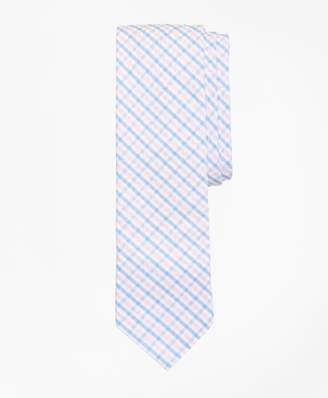 Brooks Brothers Large Gingham Seersucker Tie