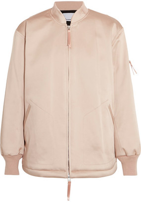 T by Alexander Wang - Oversized Satin Bomber Jacket - Blush