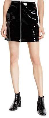 Rag & Bone Heidi Patent Leather Zip Front Mini Skirt