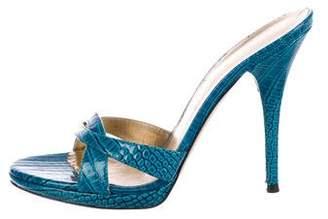 Casadei Embossed Slide Sandals