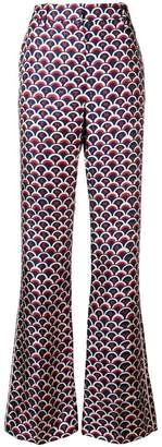 Valentino scalloped logo print trousers