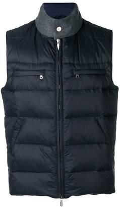 Eleventy padded zipped vest