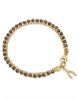 Astley Clarke Smoky Quartz Wishbone Biography Bracelet