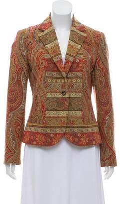 Etro Patterned Notch-Lapel Blazer