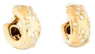 Cartier 18K Diamond Hoop Earclips