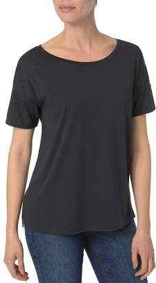 NYDJ Embellished-Sleeve Top
