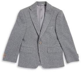 Michael Kors Boy's Notched-Collar 2-Button Pick-Stitched Blazer