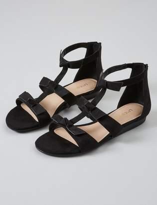 Lane Bryant Triple Bow Ankle-Strap Sandal