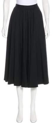 Karl Lagerfeld Wool Midi Skirt