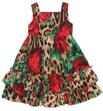 Dolce & Gabbana Rose-printed cotton dress