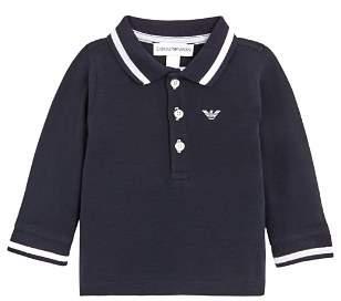 Armani Junior Emporio Armani Boy's Long Sleeve Polo Shirt - Baby