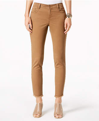 Style&Co. Style & Co Petite Fray Hem Studded Skinny Pants, Created for Macy's