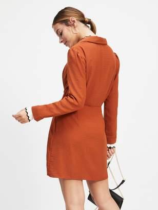ca0aaef0aff Miss Selfridge Twist Tunic Dress - Rust