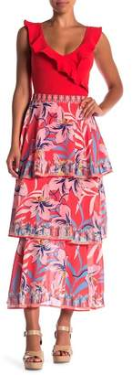 Flying Tomato Patterned Layer Maxi Skirt