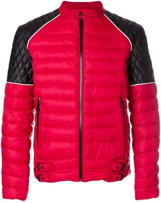 Just Cavalli quilted two tone zipped jacket