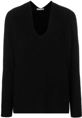 Vince ribbed V-neck jumper